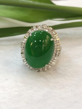 imperial jade cabochon ring/pendant