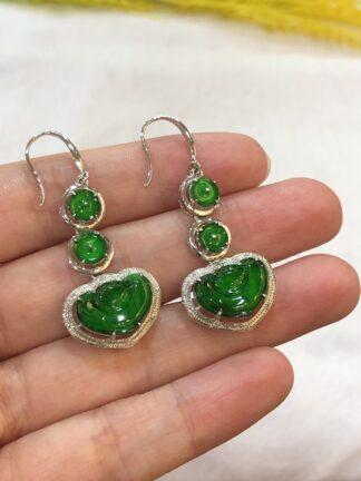 green jade Ruyi earrings