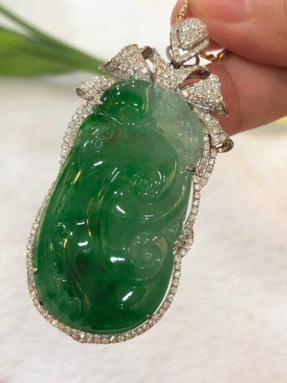 Imperial Green Jade Ruyi Pendant