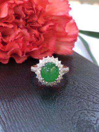 imperial green jade ring