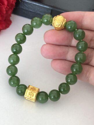 gold jade bracelet