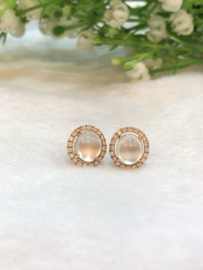 glassy icy jade earrings