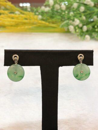 icy green jade earrings
