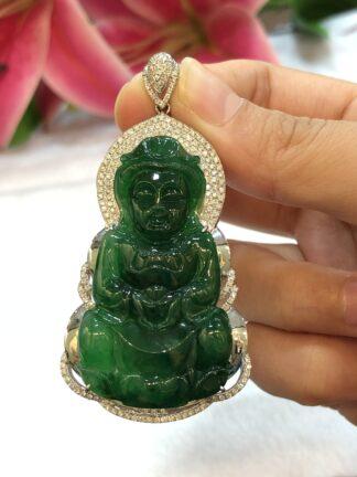 imperial green jade Guan Yin