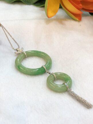 jade hoop pendant