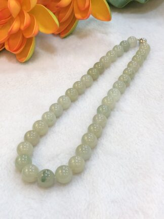 icy jade beads necklace