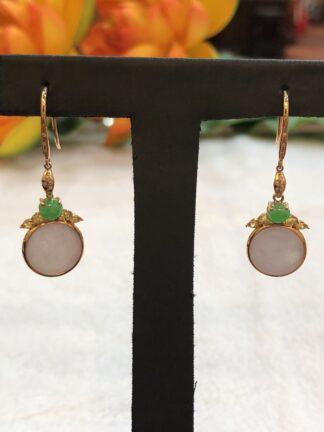 icy lavender jade earrings