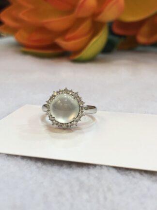 glassy jade ring