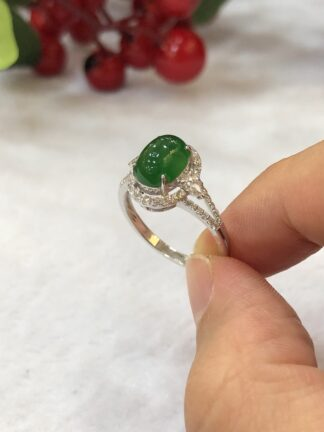 imperial green jade cabochon