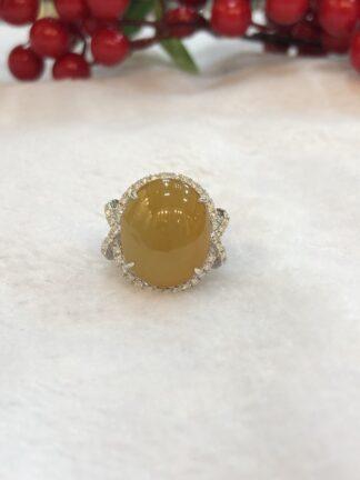 honey jade ring