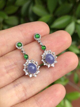 lavender jade earrings