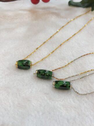 vivid green jade barrel